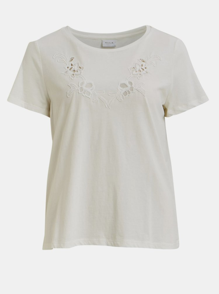 Biele tričko VILA Drano