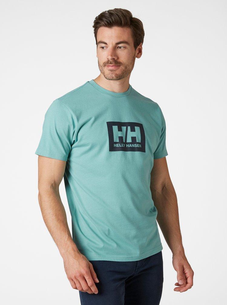 Tyrkysové pánské tričko s potiskem HELLY HANSEN Tokyo