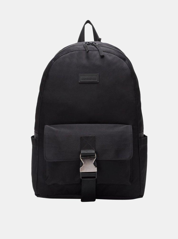 Čierny batoh Consigned Finlay Clip