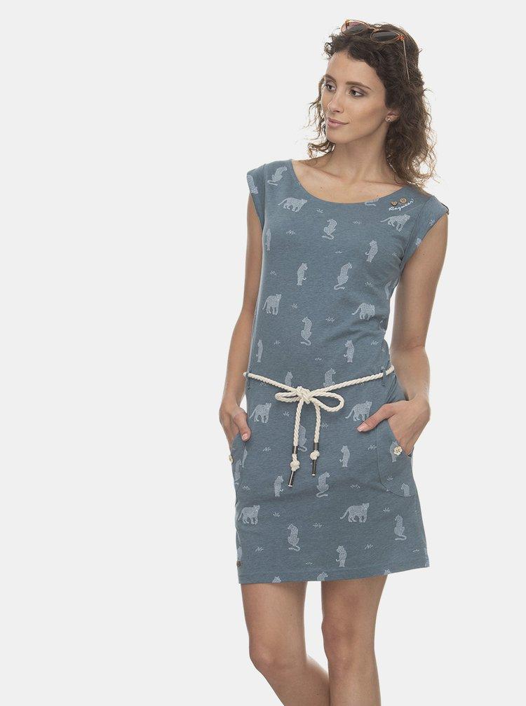 Modré vzorované šaty Ragwear Tag Tiger