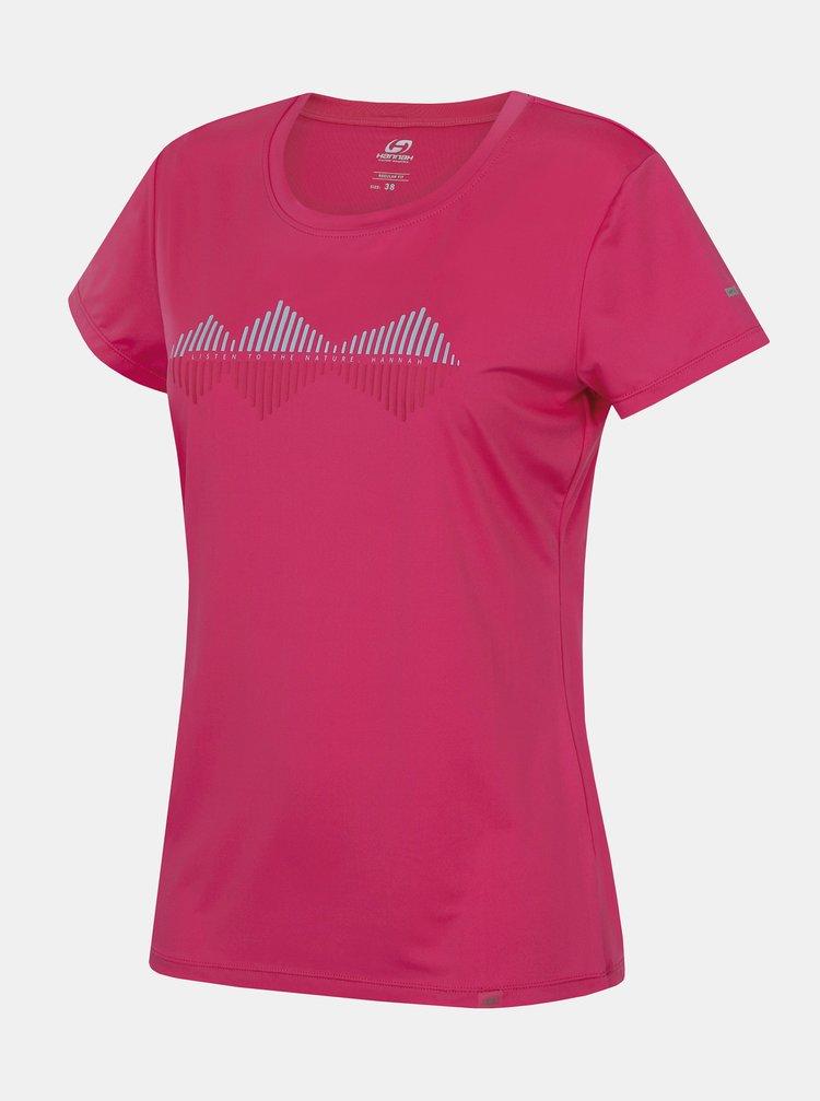 Ružové dámske funkčné tričko s potlačou Hannah Saffi