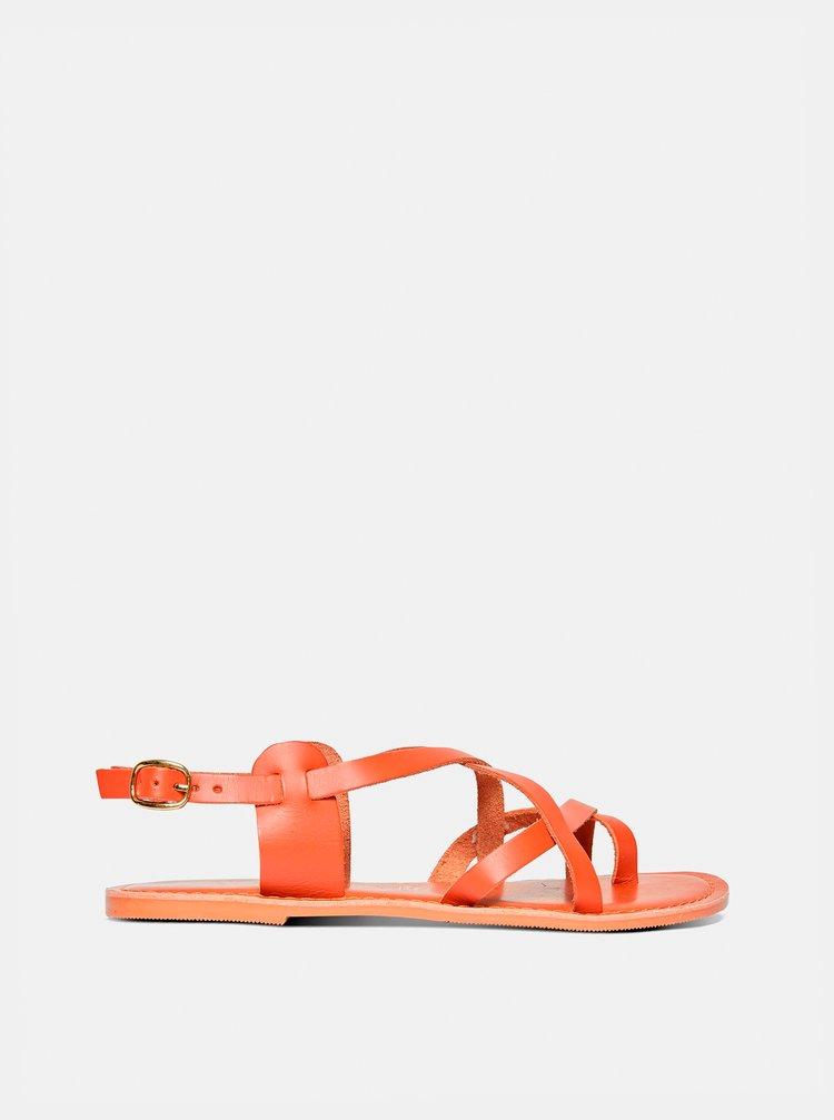 Hnedé kožené sandále Dorothy Perkins