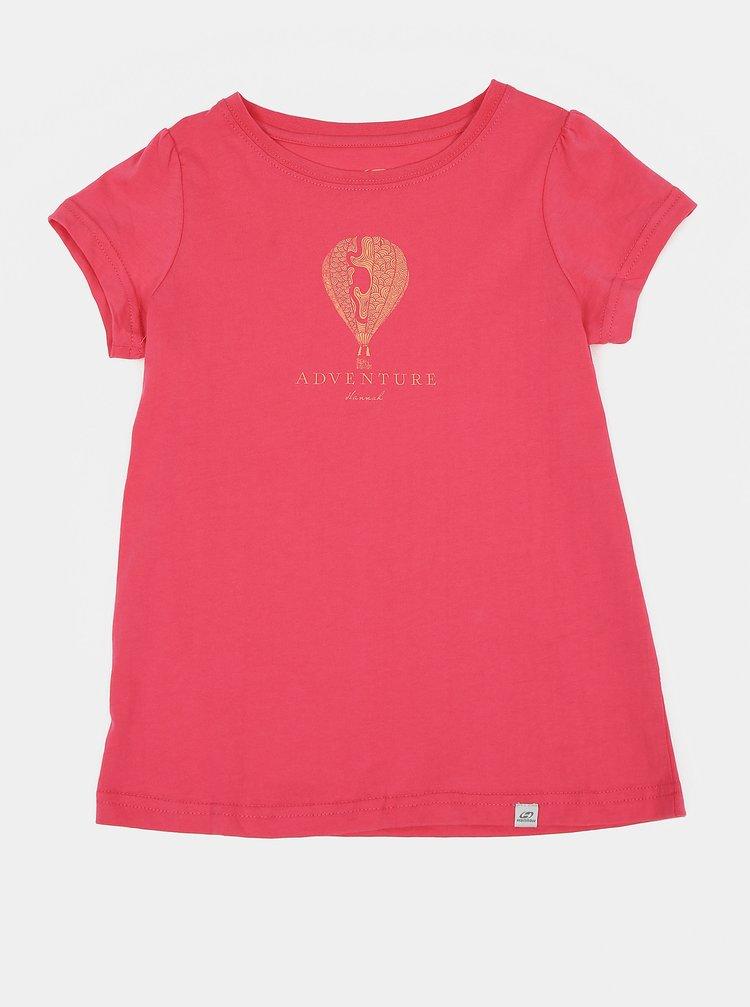 Ružové dievčenské tričko s potlačou Hannah Poppy