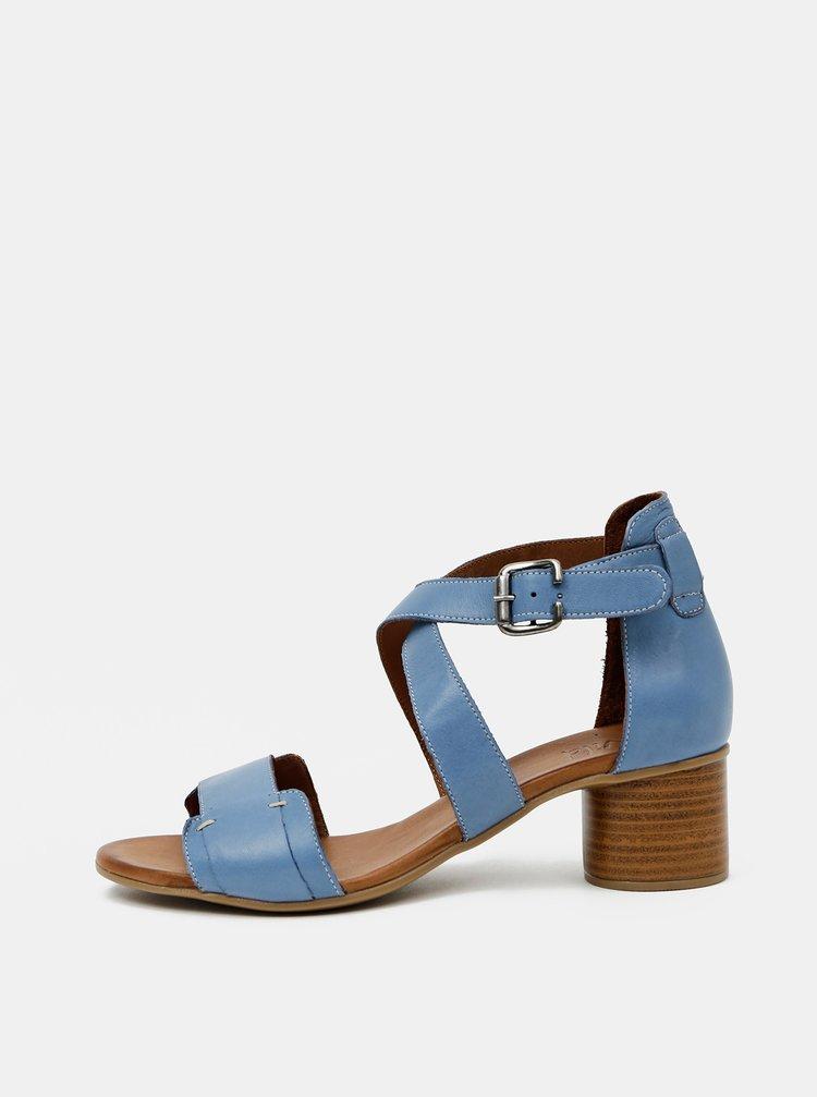 Modré kožené sandálky WILD