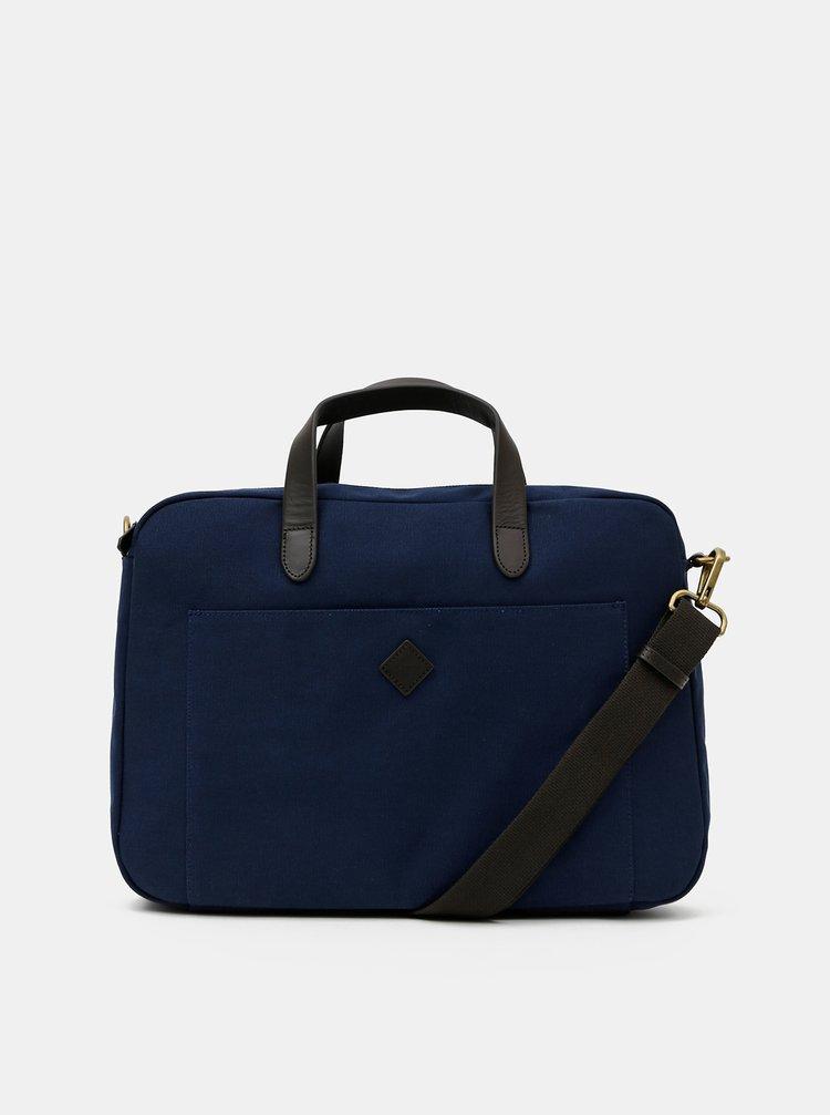 Tmavomodrá taška na notebook GANT