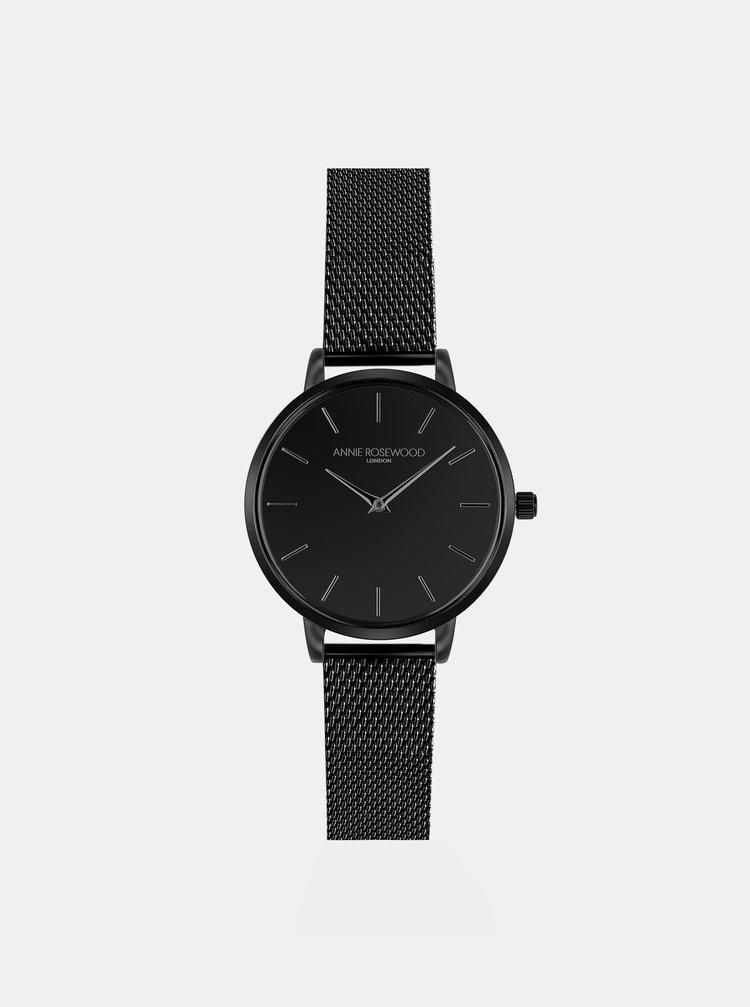 Dámské hodinky s černým nerezovým páskem Annie Rosewood