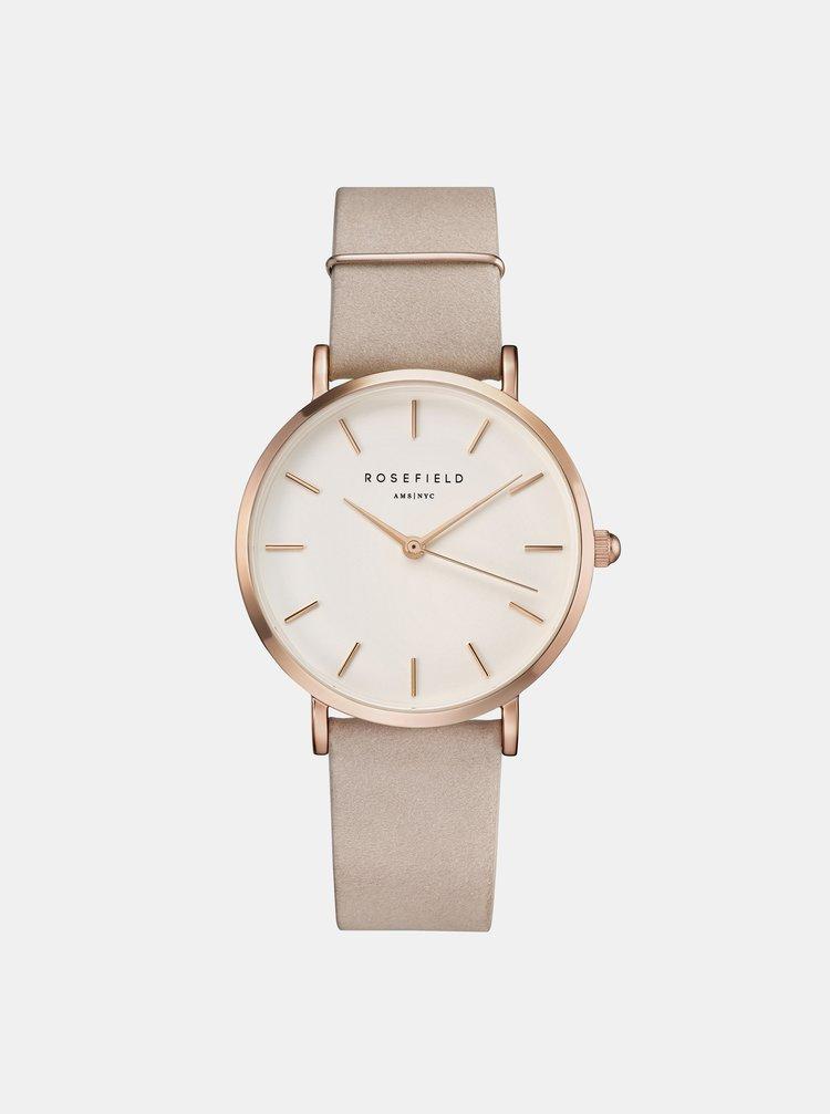 Dámske hodinky s ružovým semišovým remienkom Rosefield
