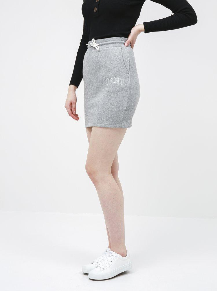 Šedá sukňa GANT