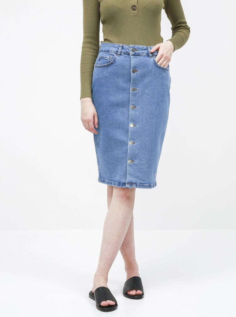 Modrá rifľová púzdrová sukňa AWARE by VERO MODA Mina