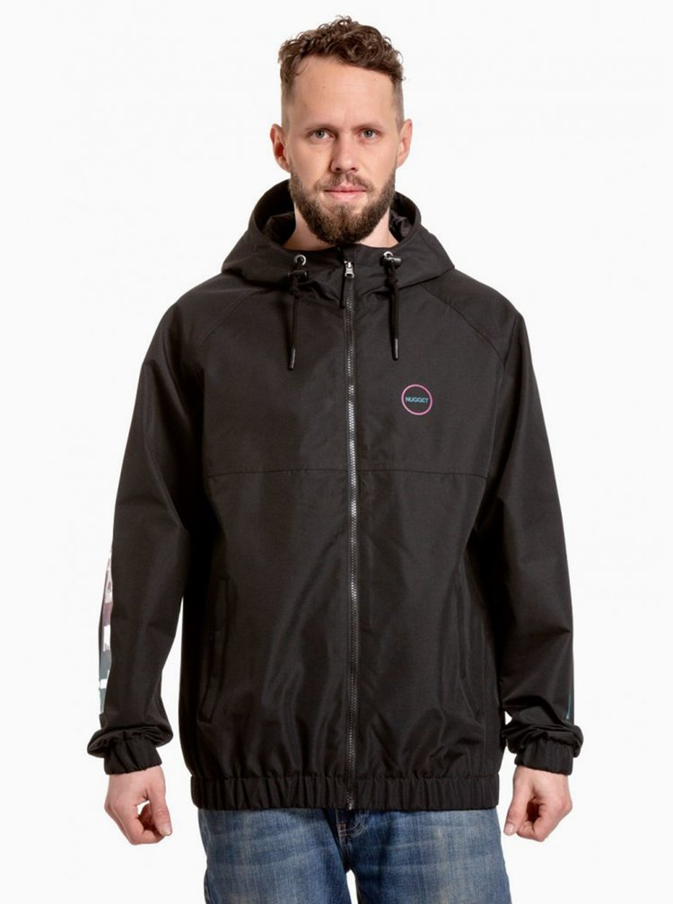 Čierna pánska vodeodolná bunda NUGGET Scope