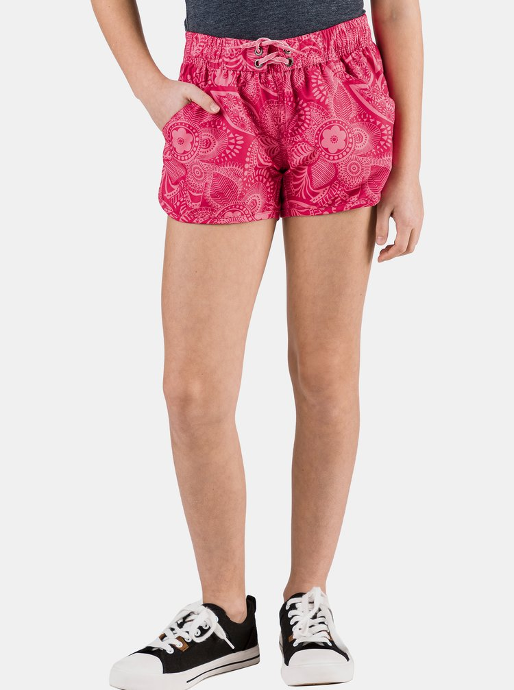 Ružové dievčenské vzorované šortky SAM 73