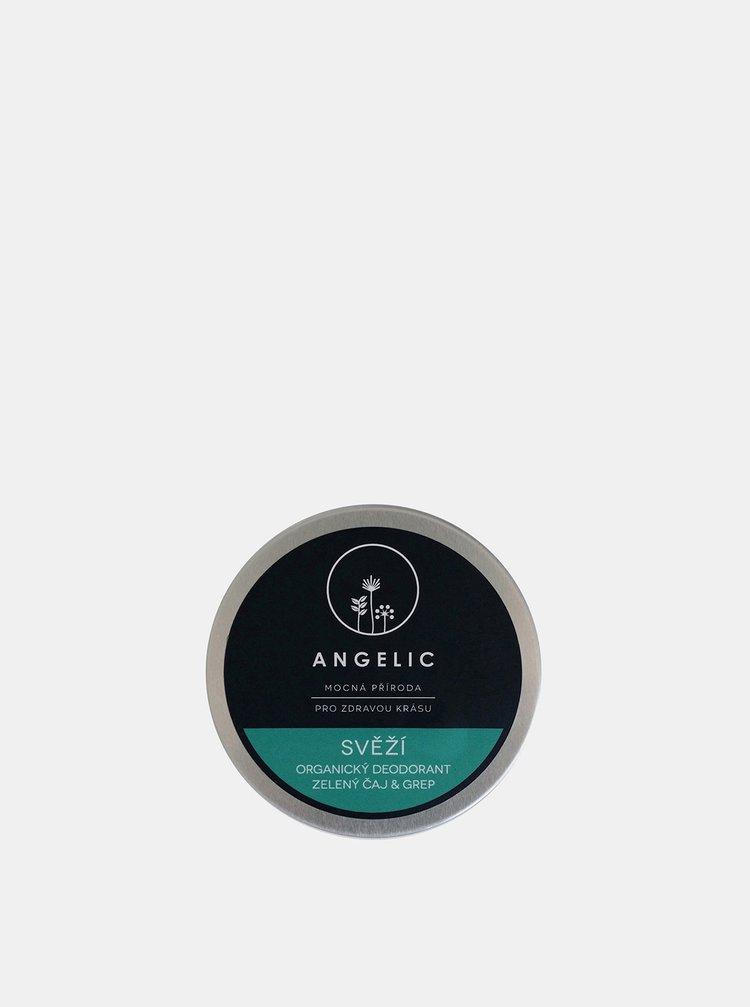 Svěží organický deodorant s vůní zeleného čaje a grepu 50 ml Angelic