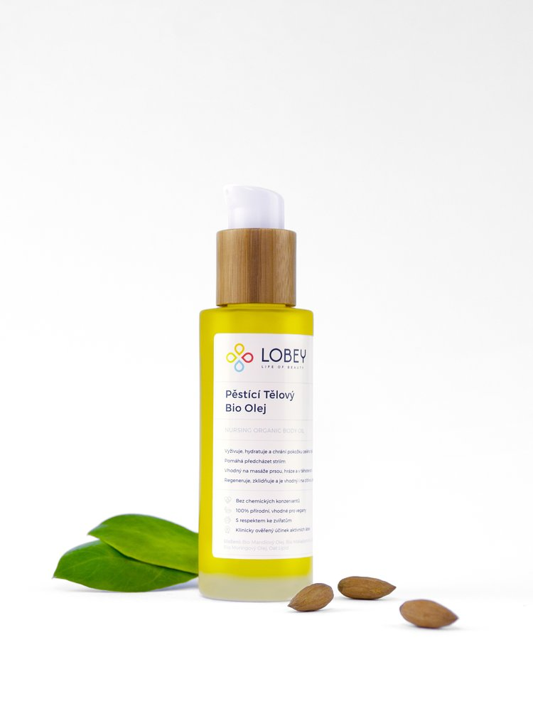 Pěstící tělový olej BIO 100 ml Lobey