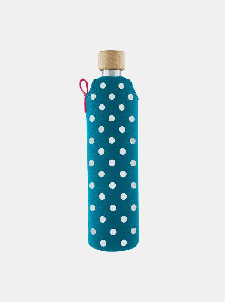 Sklenená fľaša v neoprénovom obale Drinkit Lentilka 500 ml