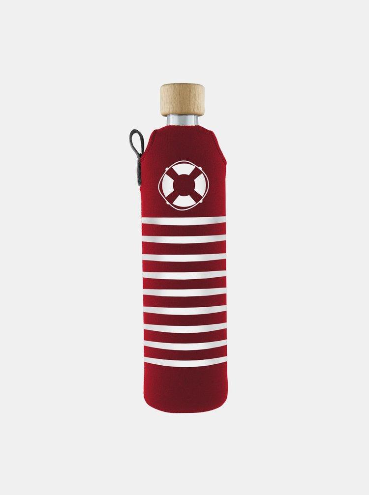 Skleněná láhev v neoprenovém obalu Drinkit Rozmarné léto 500 ml
