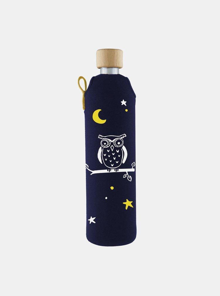 Skleněná láhev v neoprenovém obalu Drinkit Sova 500 ml