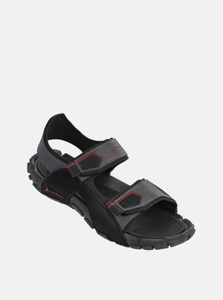 Tmavě šedé pánské sandály Rider