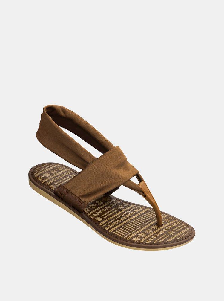 Hnědé dámské sandály Zaxy