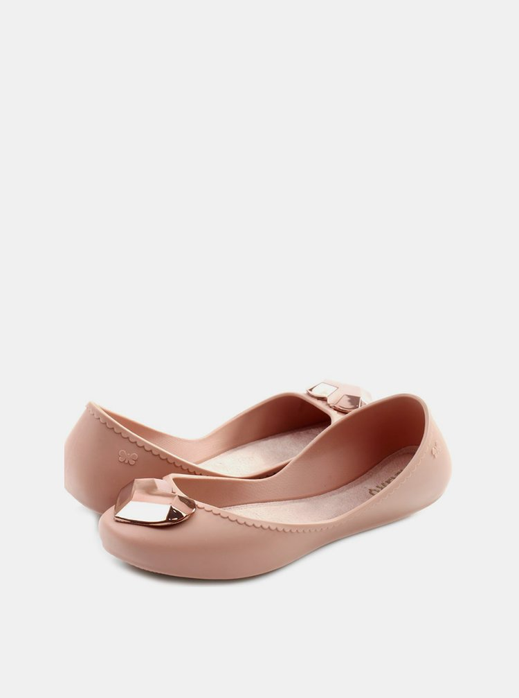 Růžové baleríny s ozdobným srdíčkem na špičce Zaxy Start Romance