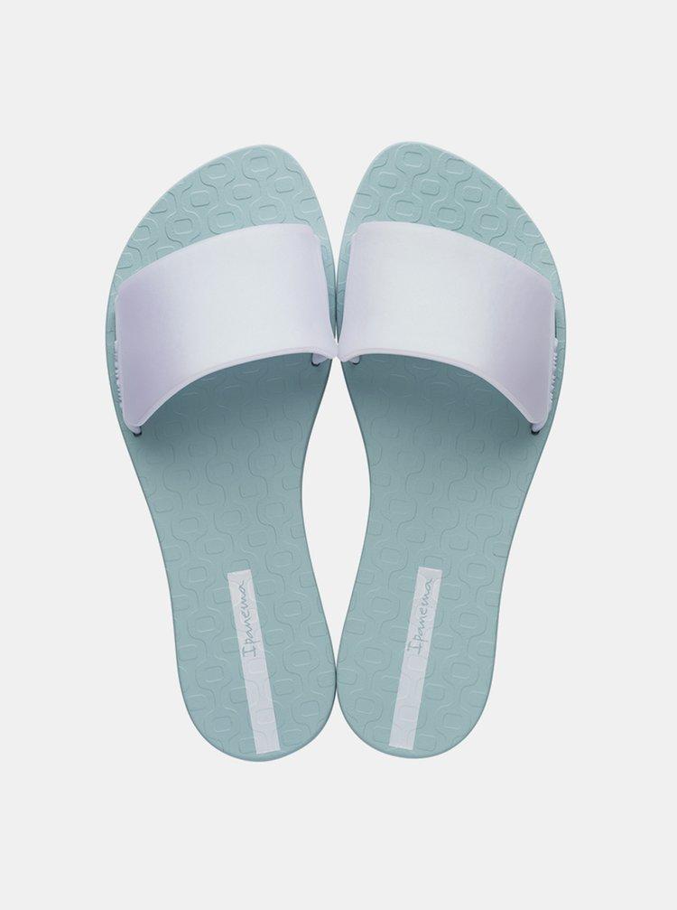 Mentolové pantofle s perleťovými odlesky Ipanema Livia