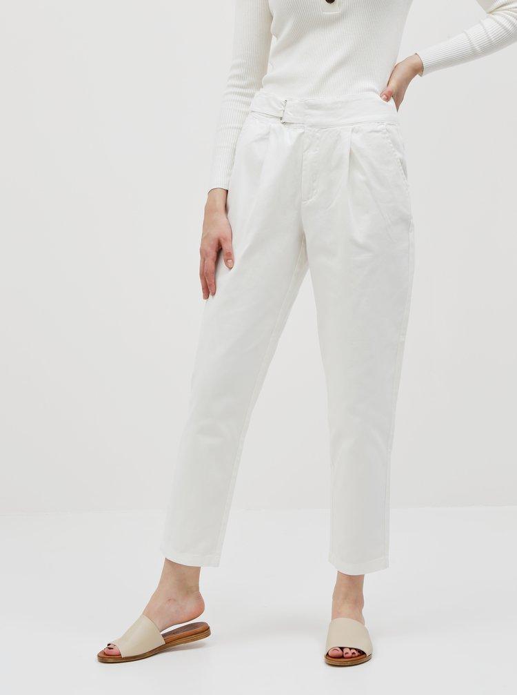Bílé zkrácené kalhoty Jacqueline de Yong Pacey