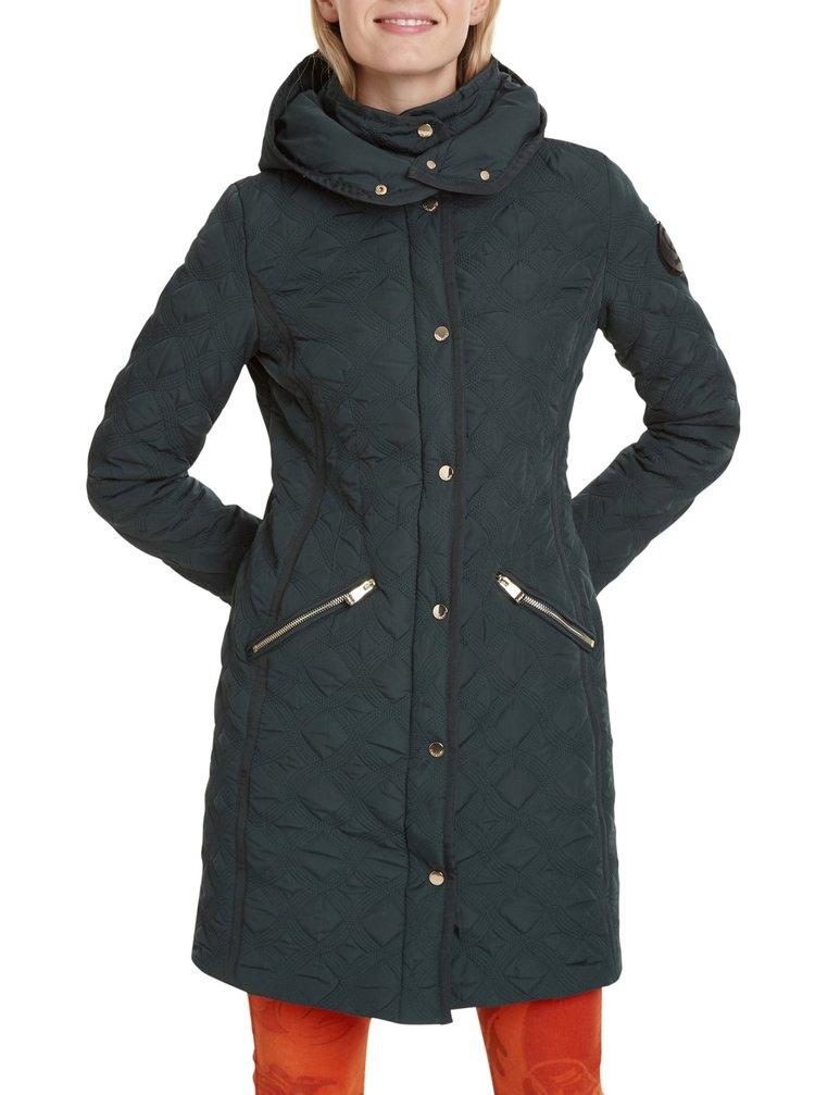 Desigual lahvově zelený kabát Padded Leicester