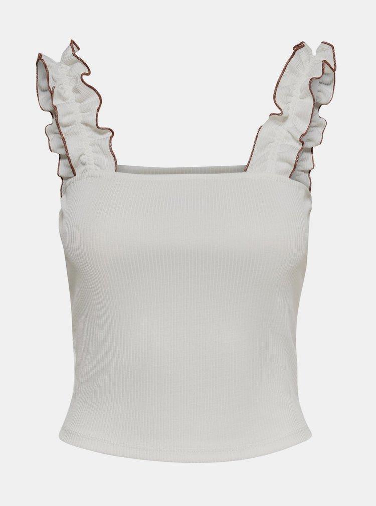 Biely krátky top Jacqueline de Yong Fulla