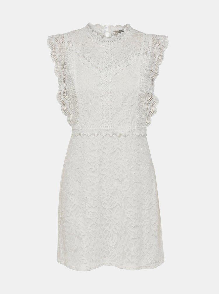 Bílé krajkové šaty ONLY Karo
