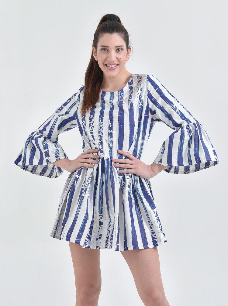 Modré pruhované šaty Ble