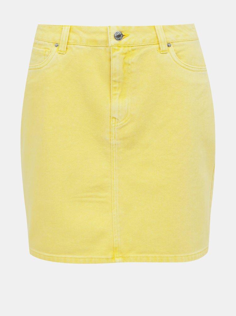 Žlutá džínová sukně VERO MODA Kate