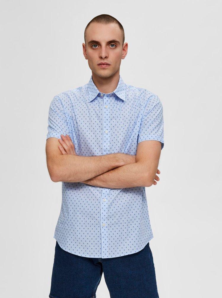 Svetlomodrá vzorovaná košeľa Selected Homme