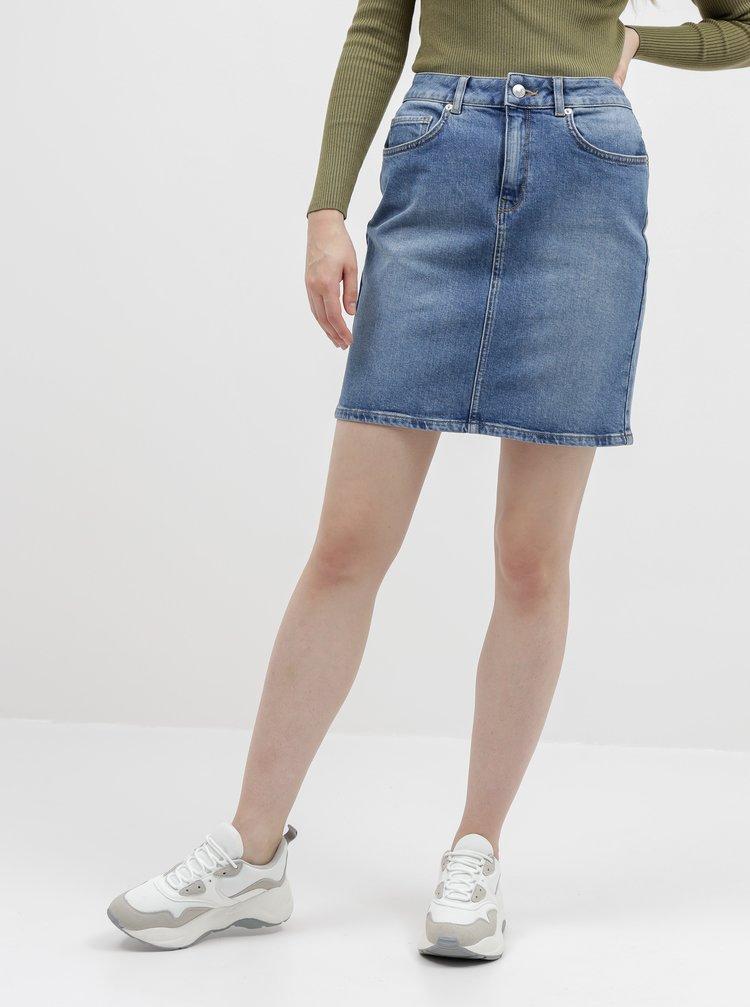Modrá dámská džínová sukně Selected Femme Kenna