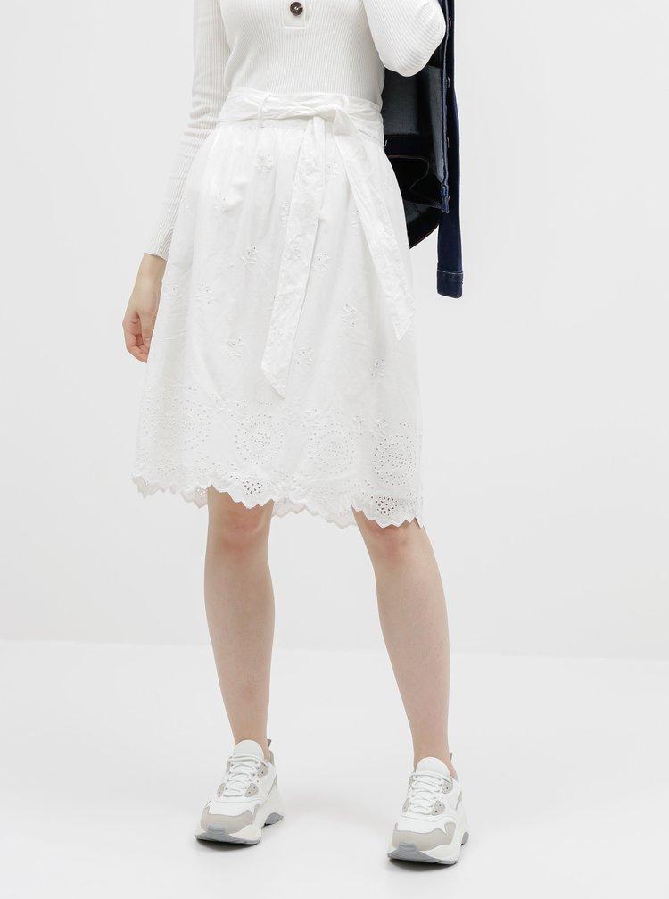 Bílá sukně s madeirou ONLY