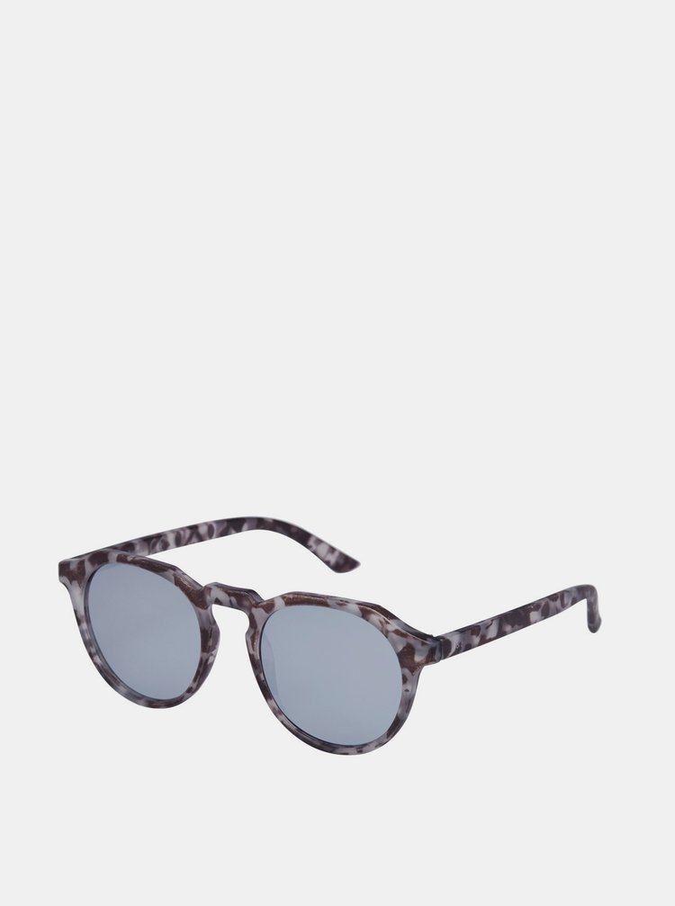 Šedé vzorované sluneční brýle Jack & Jones