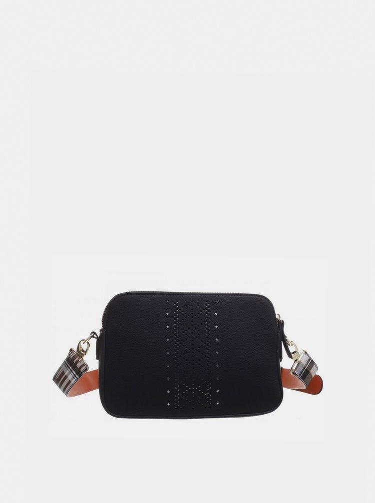 Čierna crossbody kabelka Bessie London