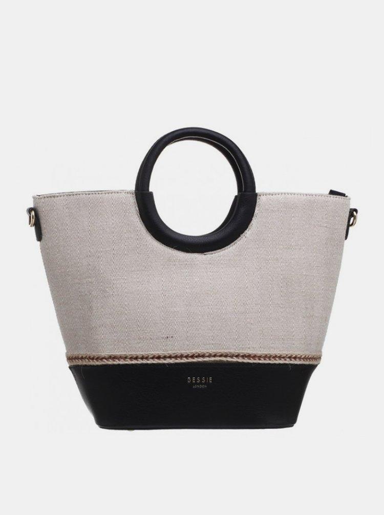 Černo-béžová kabelka Bessie London