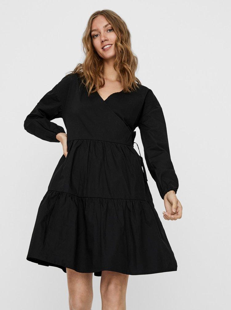 Černé volné šaty Noisy May Pinar
