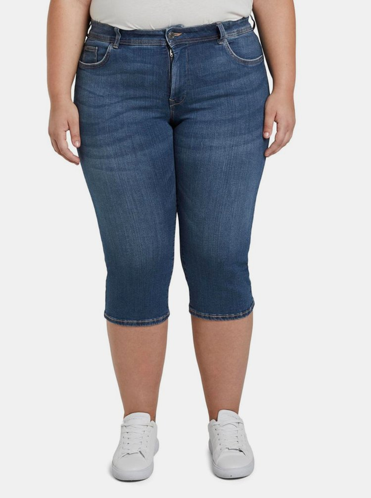 Modré dámské 3/4 slim fit džíny My True Me Tom Tailor