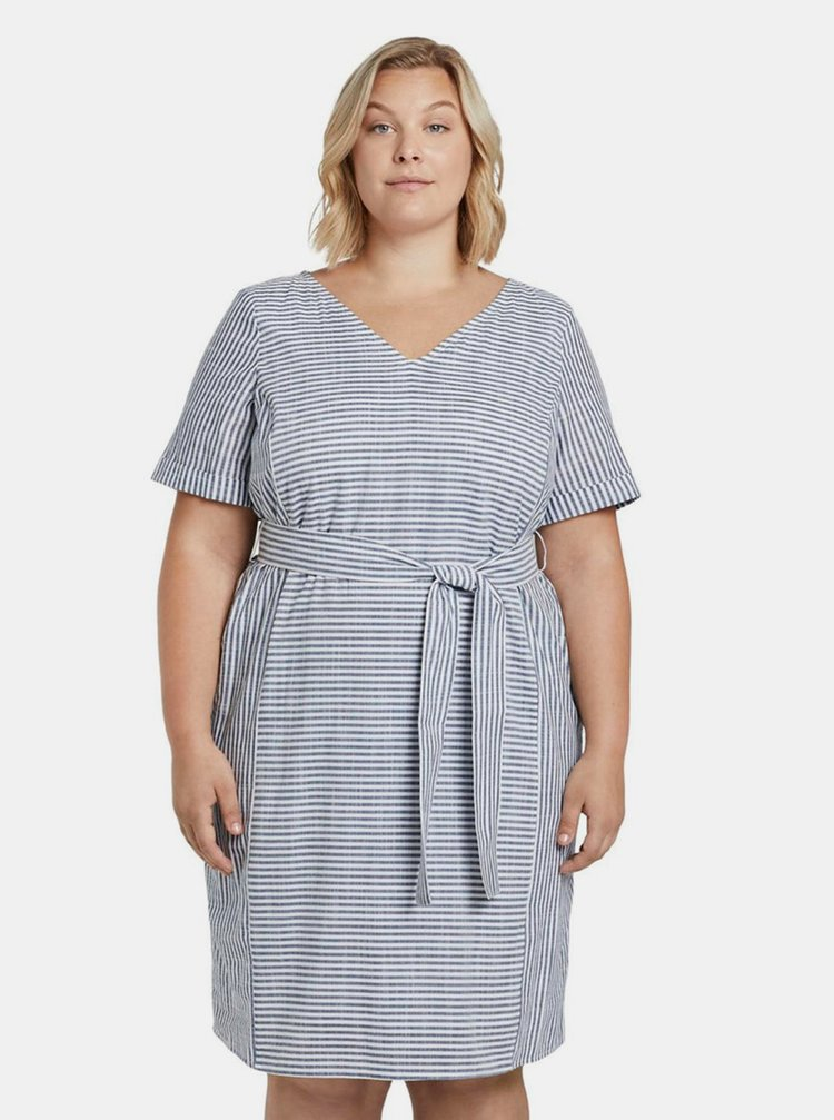 Modré dámske pruhované šaty My True Me Tom Tailor