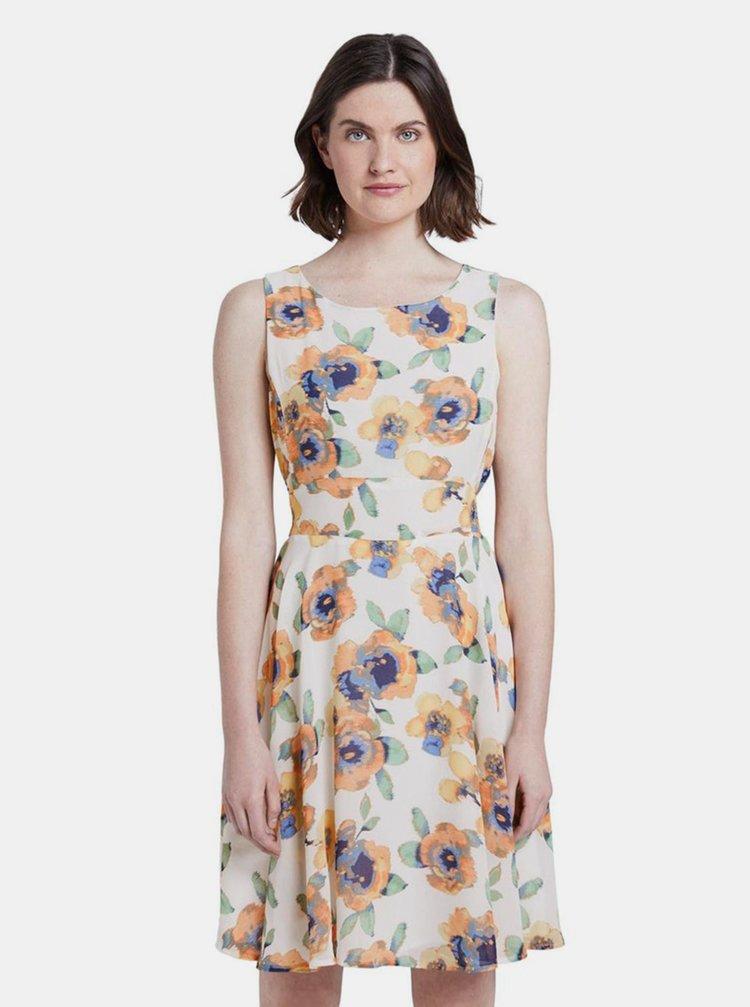 Bílé dámské květované šaty Tom Tailor
