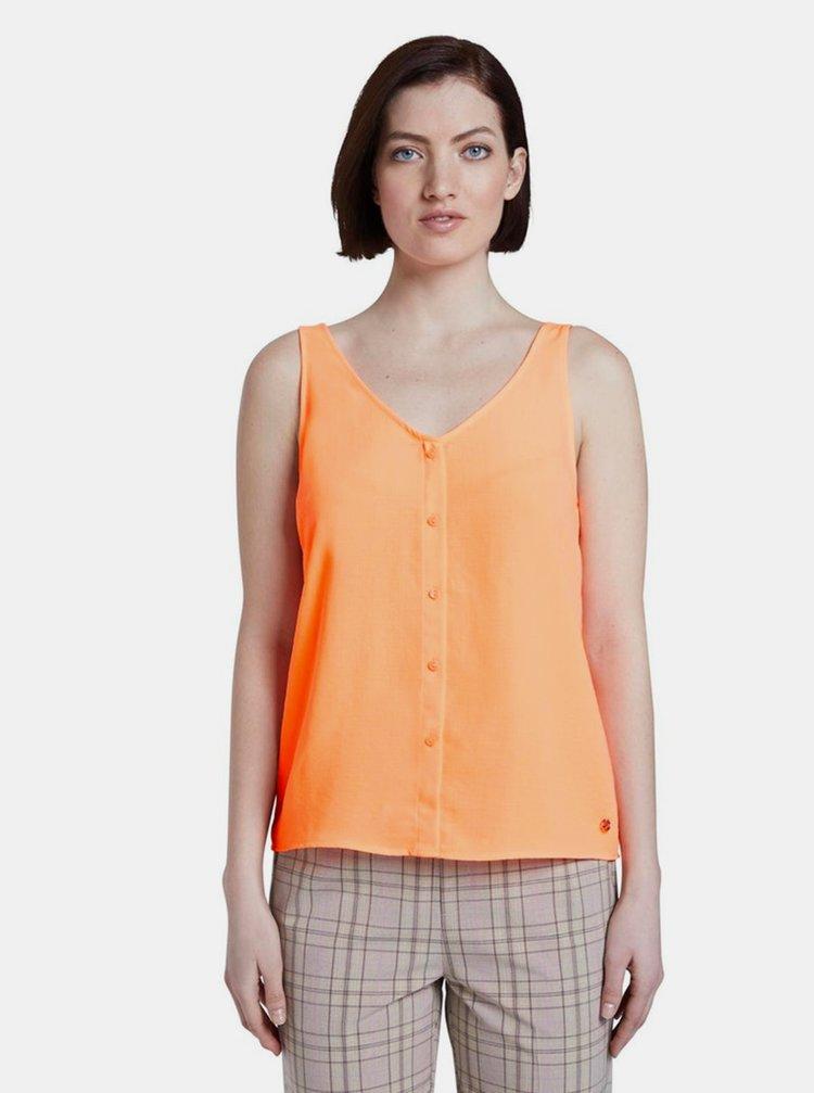 Oranžový dámský top Tom Tailor Denim