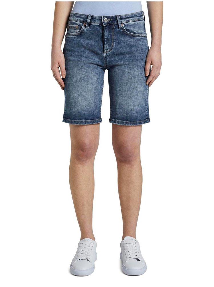 Modré dámské džínové kraťasy Tom Tailor Denim
