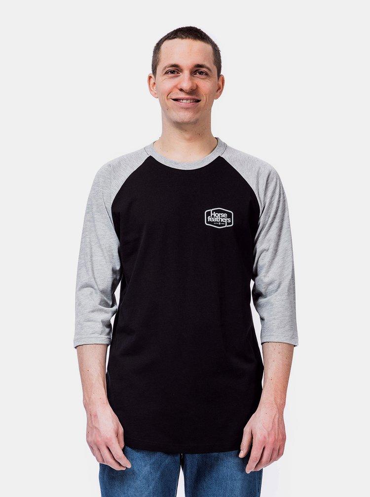 Černé pánské tričko Horsefeathers