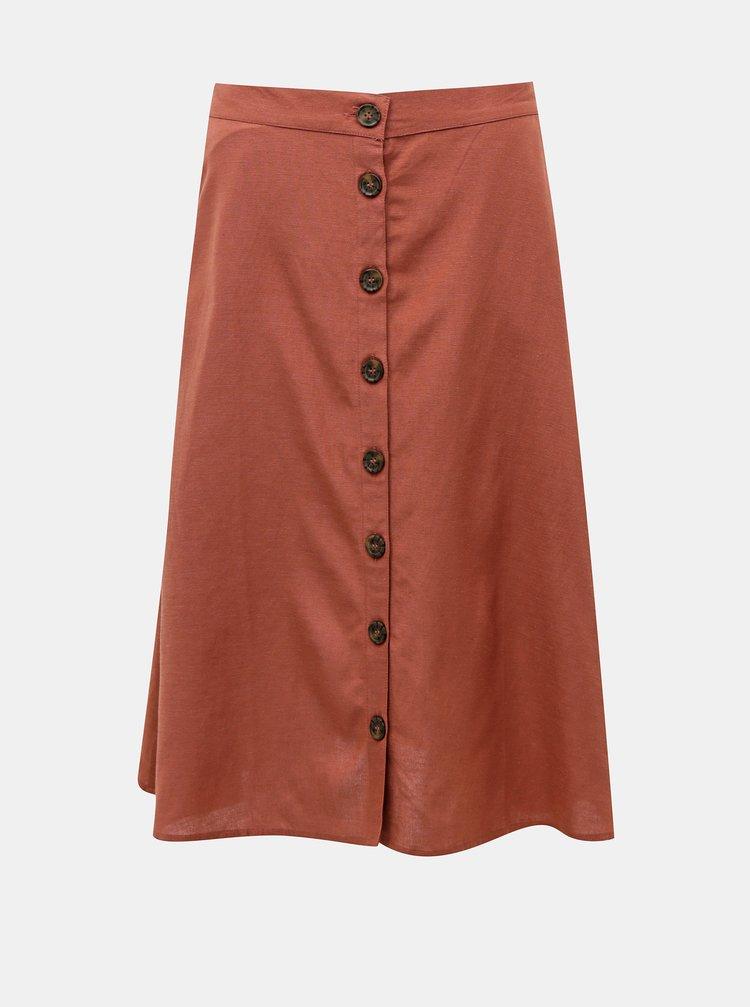 Hnedá sukňa ONLY Viva