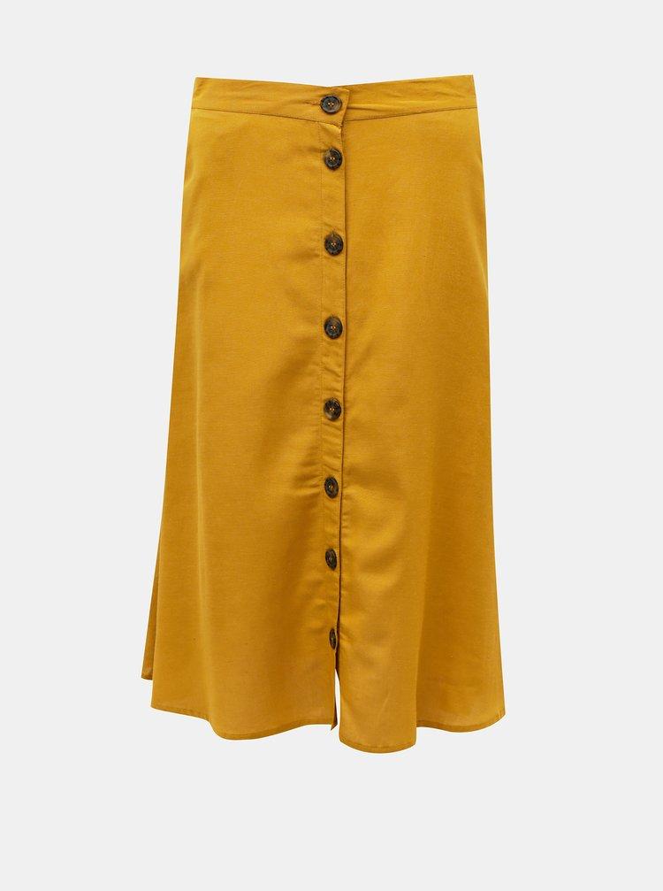 Hořčicová sukně ONLY Viva