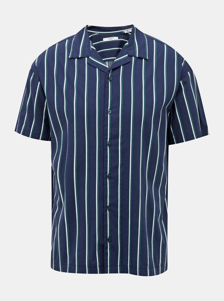 Tmavě modrá pruhovaná košile Jack & Jones Blastripe