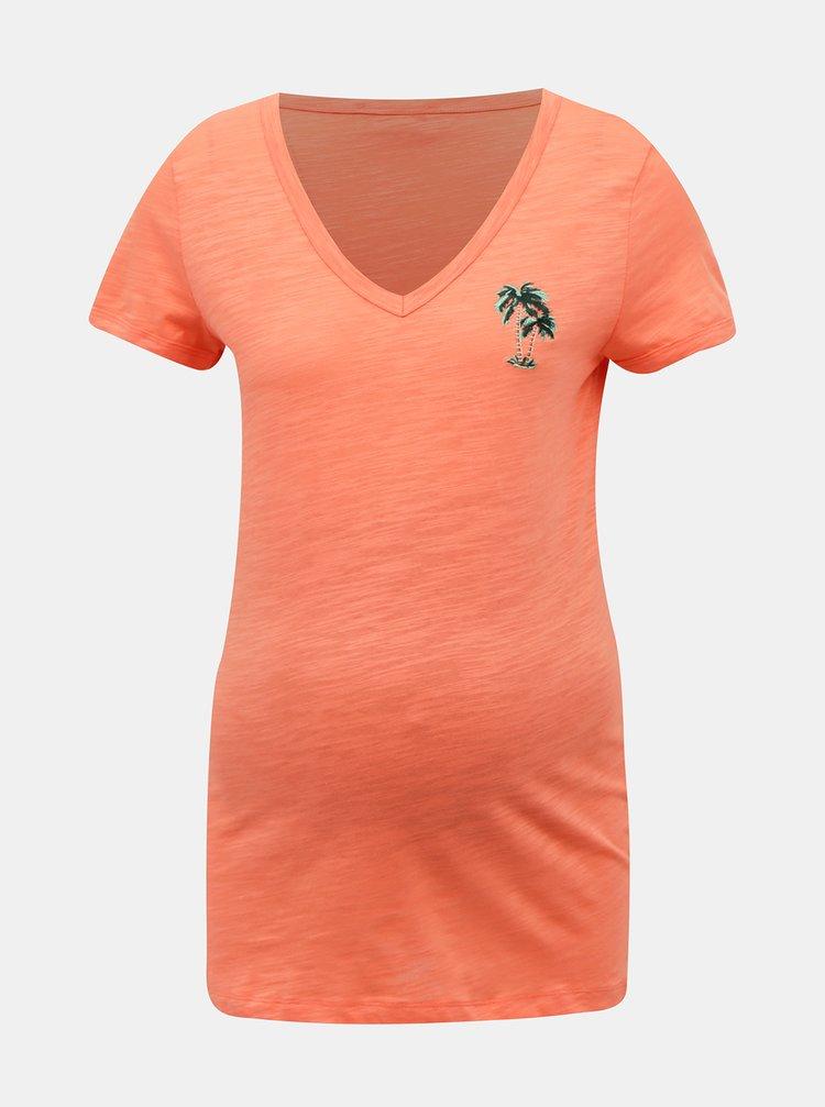Oranžové těhotenské tričko Mama.licious Joana