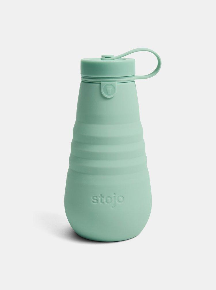 Zelená cestovní skládací láhev Stojo 590 ml