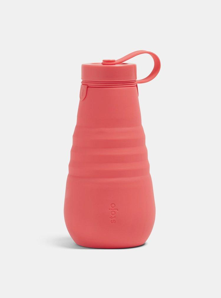 Korálová cestovní skládací láhev Stojo 590 ml