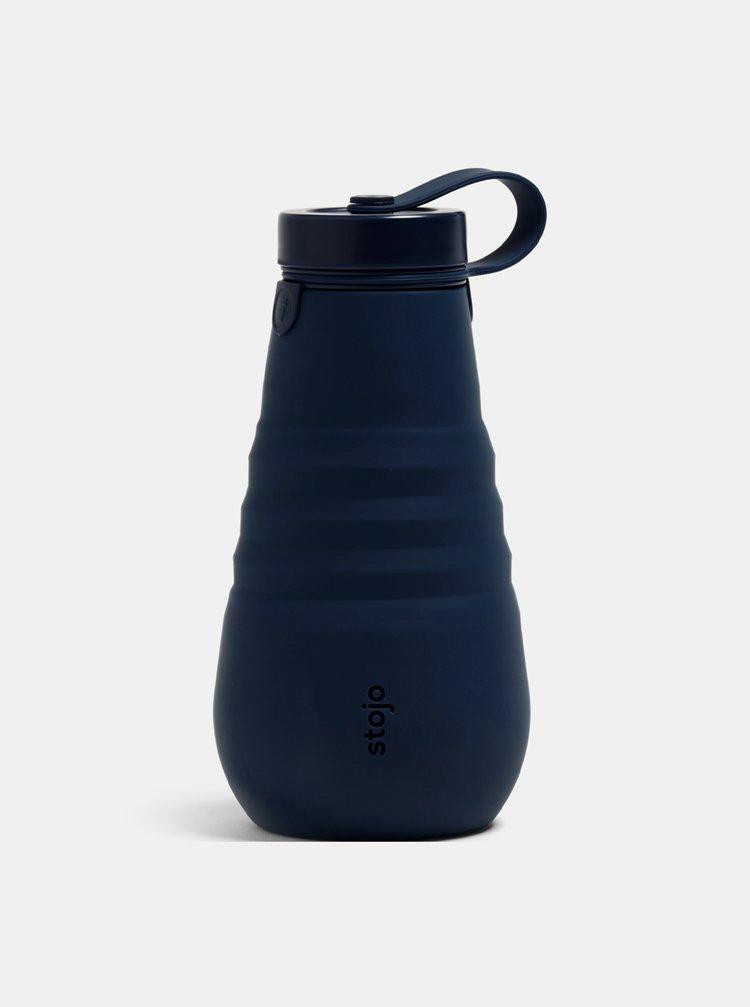 Tmavě modrá cestovní skládací láhev Stojo 590 ml
